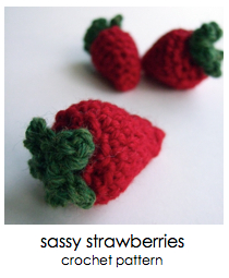 click for sassy strawberries pattern