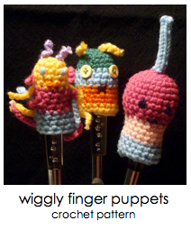 click for wiggly finger puppets pattern